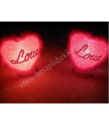 Damla kalp gece lambası sevgililer günü hediyelik eşya P1002