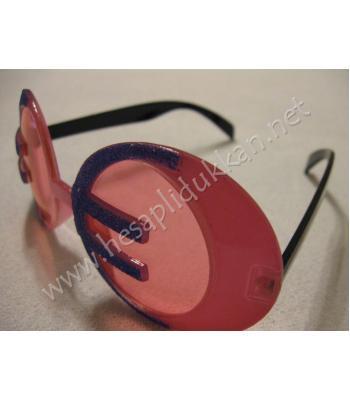Euro şeklinde parti gözlükleri R104