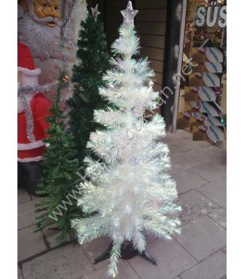 Fiber optik ışıklı beyaz yılbaşı ağacı 150 cm P950