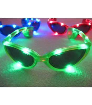 Güneş gözlüğü şeklinde led ışıklı parti gözlükleri R117