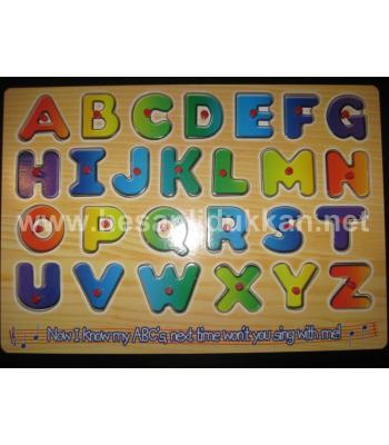 Harfli yapboz zeka oyuncağı harf öğret P344