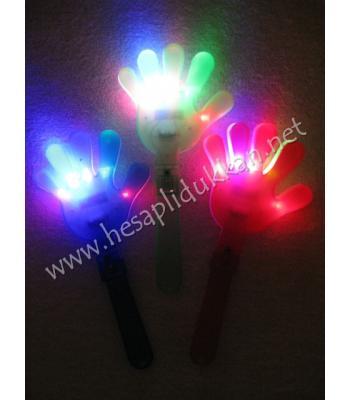 Işıklı büyük şak şak el şeklinde ışıklı oyuncak 5 ledli P644