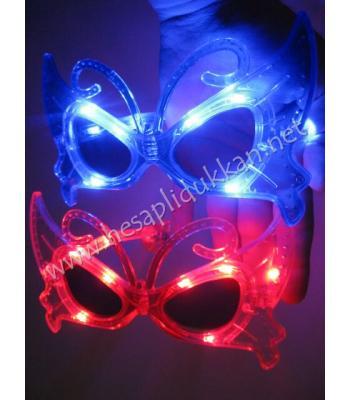 Işıklı kelebek gözlük R119