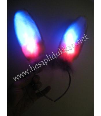 Işıklı tavşan kulağı taç P708