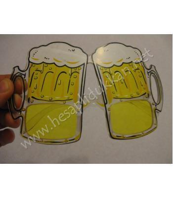 Köpüklü bira bardağı şeklinde parti gözlüğü R105