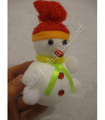 Kırmızı şapkalı kardan adam yılbaşı süsleme P937