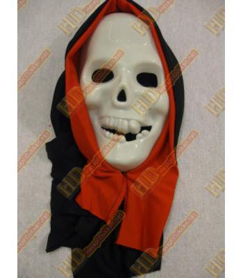 Kırmızı kapşonlu kuru kafa parti maskesi parti malzemeleri R164