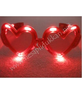 Kalp şeklinde ışıklı gözlük parti malzemeleri R118