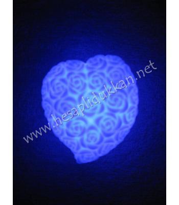 Kalp şeklinde gül desenli renk değiştiren gece lambası P641