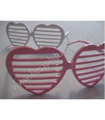 Kalp şeklinde panjur gözlük R108