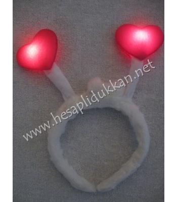 Kalpli ışıklı peluş taç P709