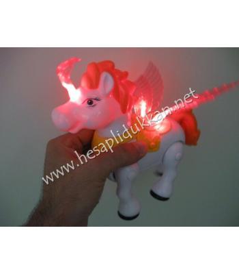 Kanatlı tek boynuzlu at ışıklı oyuncak P737