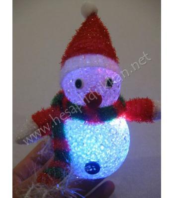 Kardan adam şeklinde renk değiştiren gece lambası hediyelik eşya P988
