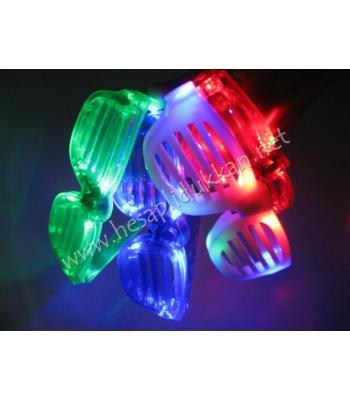 Led ışıklı rockstar panjur gözlük P698