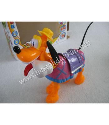 Müzikli ve ışıklı yürüyen köpek P741