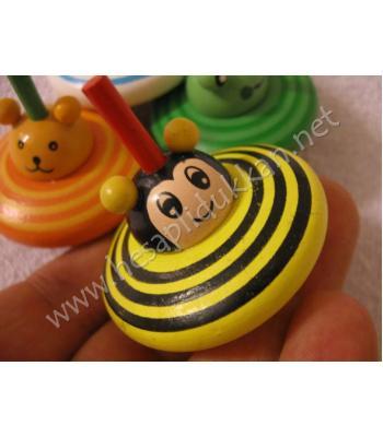 Mini sevimli renkli figürlü topaç promosyon oyuncak R84