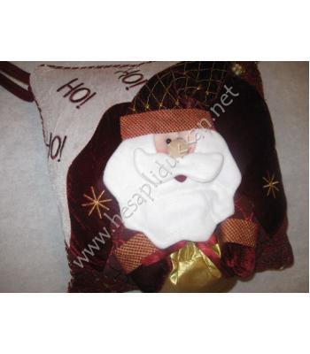 Noel baba yastığı yılbaşı hediyelik minderi yılbaşı ürünleri P92
