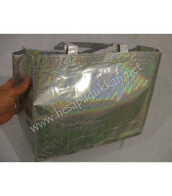 Parlak kumaştan plaj çantası P649