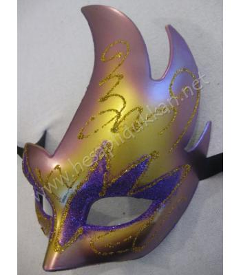 Parti carnaval maskesi alev saç parti maskeleri P984