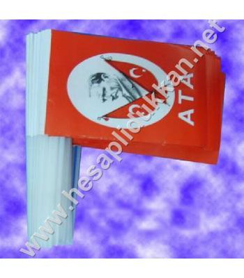 Plastik sopalı Atalı 10x20 bayrak B045