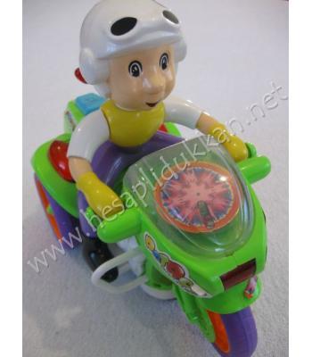 Polis motosikleti renkli ışıklı müzikli oyuncak R55