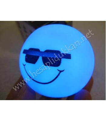 Renk değiştiren gözlüklü gülen yüz gece lambası R85
