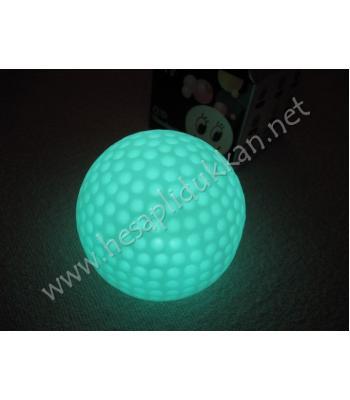 Renk değiştiren golf topu şeklinde gece lambası R92