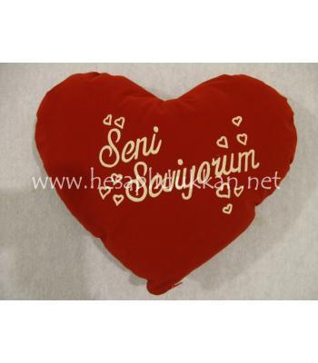 Süet sevgiler günü hediyesi yastığı toptan P451