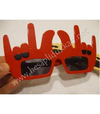 Seni seviyorum işareti şeklinde parti gözlükleri R124
