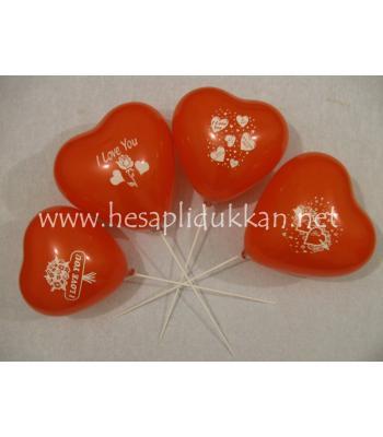 Sevgililer günü hediyesi kırmızı kalp balon P429