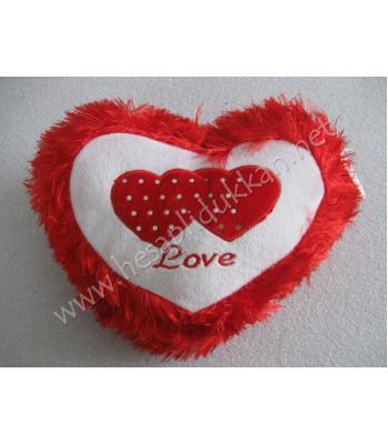 Sevgililer günü yastığı kırmızı püsküllü R30