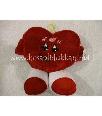 Sevimli kalp peluş konuşan sevgililer günü hediyesi P445