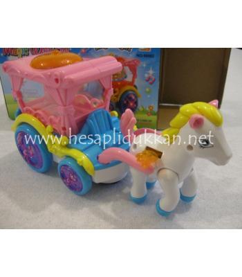 Sihirli uçan atlı araba ışıklı oyuncak P492