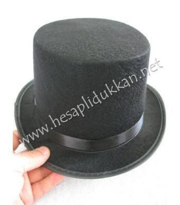 Siyah silindir parti şapkası P828