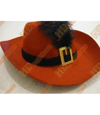 Siyah tüylü parti şapkası parti malzemeleri R159