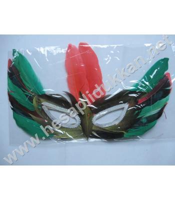 Tüylü yılbaşı maskesi 12 li paket P188