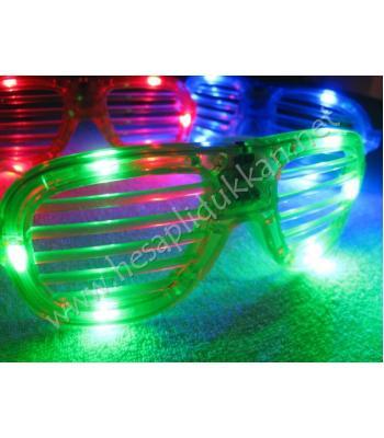 Yeni model ışıklı panjur gözlükler ışıklı parti gözlükleri R111