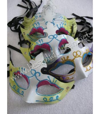 Simli plastik yılbaşı parti maskeleri R229