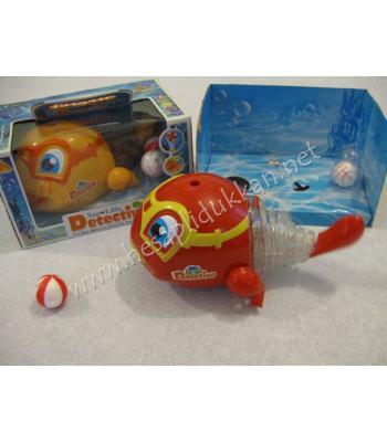 Üflemeli balık ışıklı oyuncak P679