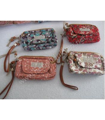 Çiçek desenli cep telefonluklu cüzdanlar R04
