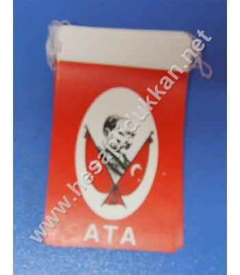 İpli Atalı bayrak 8x12 B043