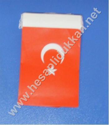 İpli Türk bayrağı 8x12 B042