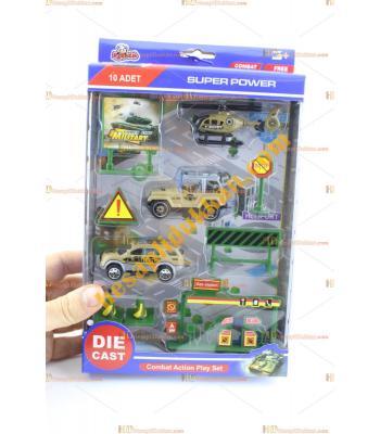 Toptan askeri araç seti kutulu ucuz fiyat promosyon oyuncak