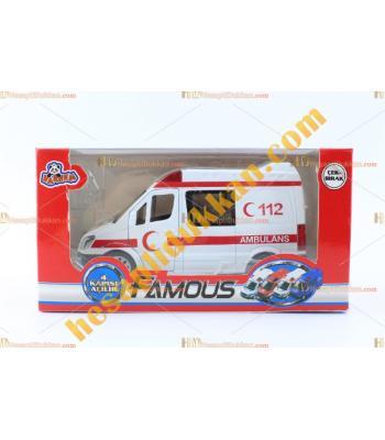 Toptan metal ambulans oyuncak promosyon çek bırak