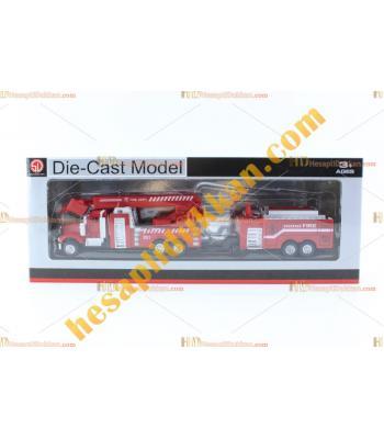 Toptan büyük boy oyuncak itfaiye kamyon model araç