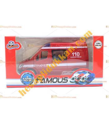 Toptan promosyon oyuncak itfaiye arabası kutulu ucuz satış