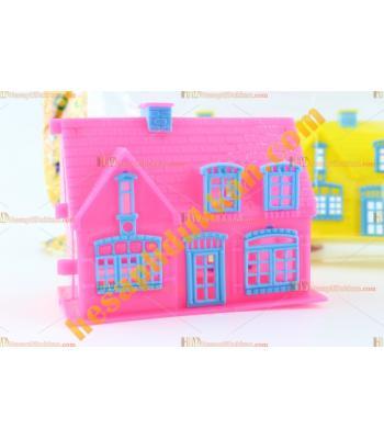 Promosyon oyuncak kız çocukları için mini açılan ev