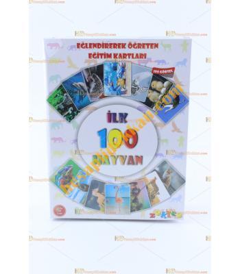 Toptan ilk 100 hayvan eğitici oyuncak kartlar set