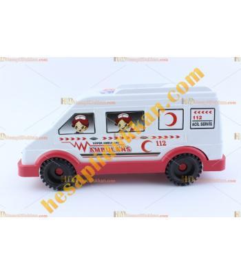 Toptan ucuz oyuncak ambulans minibüs