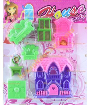 Toptan oyuncak ev seti plastik promosyon ucuz fiyat imalat